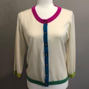 Kate Spade cream 3/4 sleeve cardigan, size M